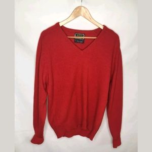 Vintage BRITCHES OF GEORGETOWNE V-Neck Red Sweater
